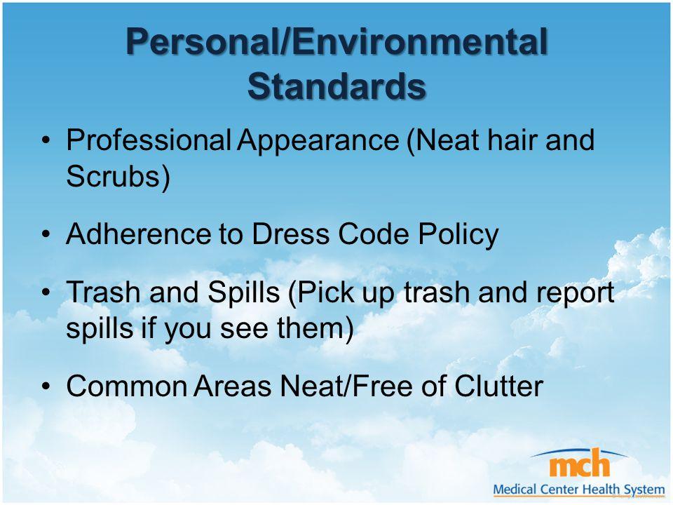 Personal/Environmental Standards