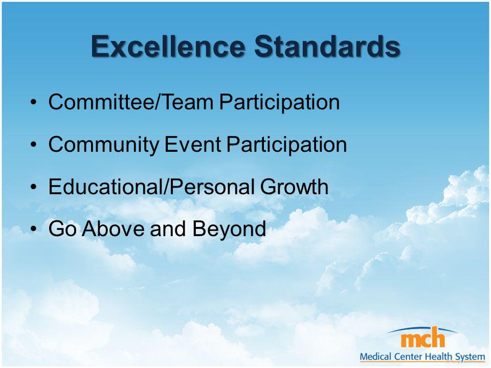 Excellence Standards Committee/Team Participation