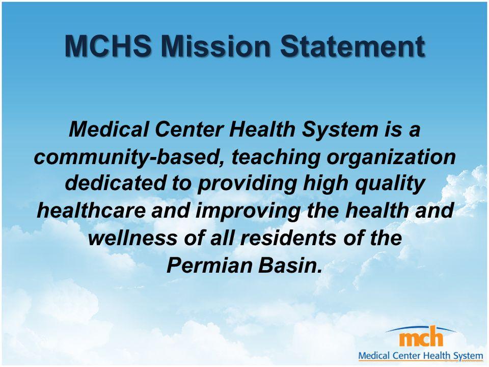 MCHS Mission Statement