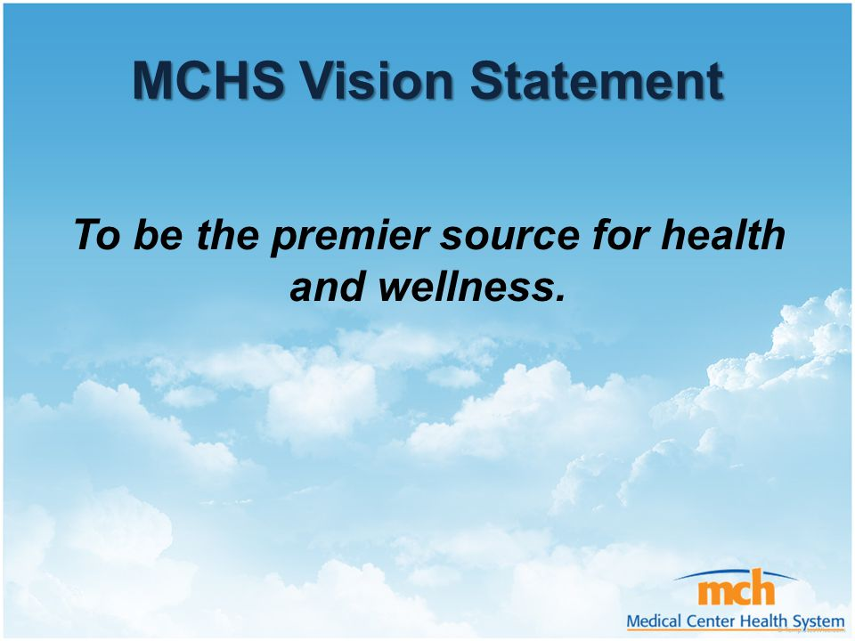 To be the premier source for health and wellness.