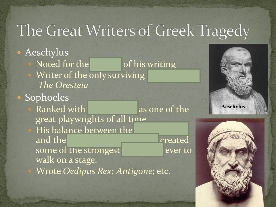 The Great Writers of Greek Tragedy