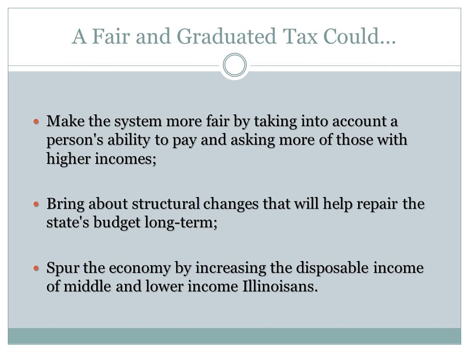 A Fair and Graduated Tax Could…