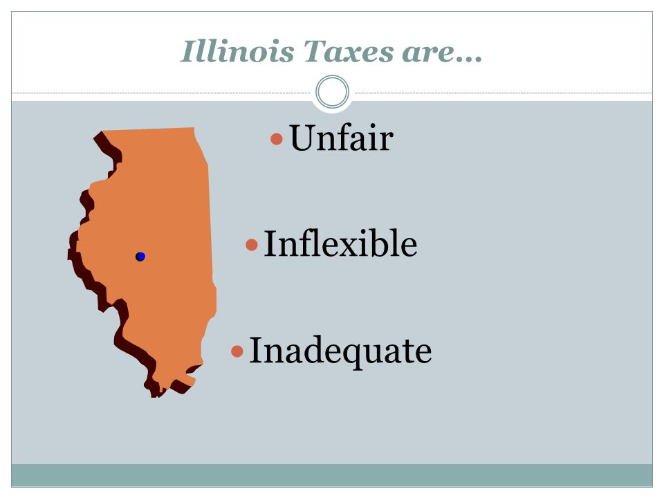 Unfair Inflexible Inadequate Illinois Taxes are…