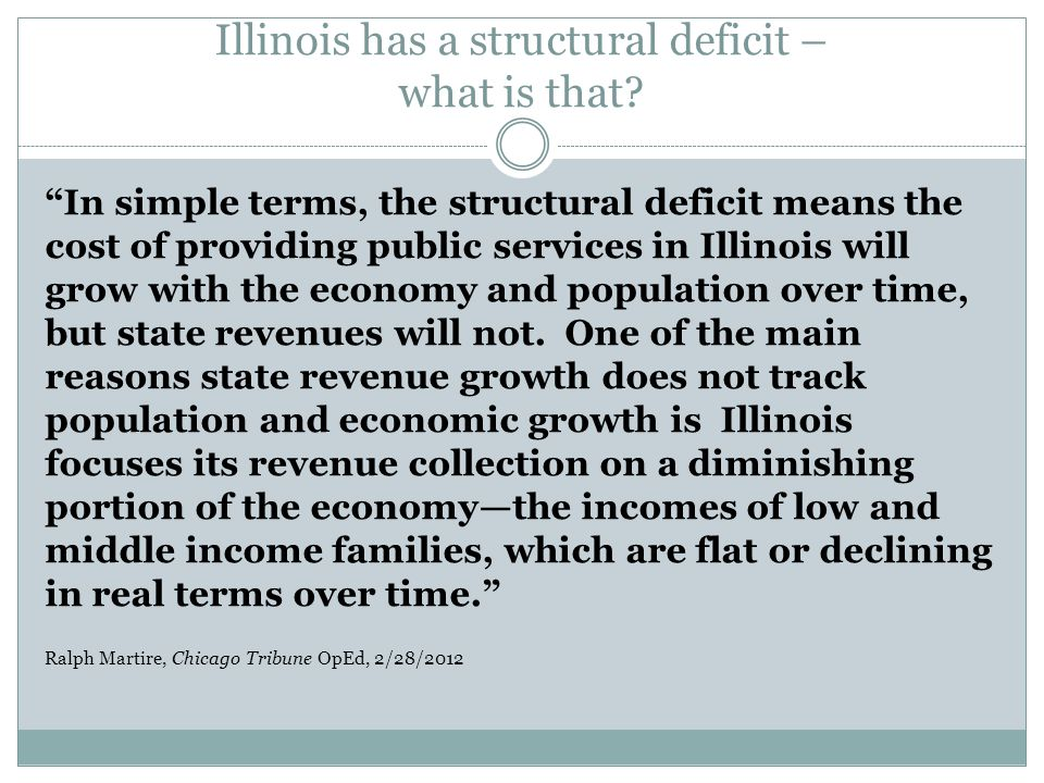 Illinois has a structural deficit – what is that
