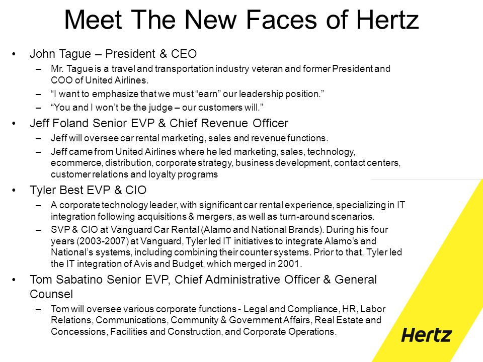 Meet The New Faces of Hertz