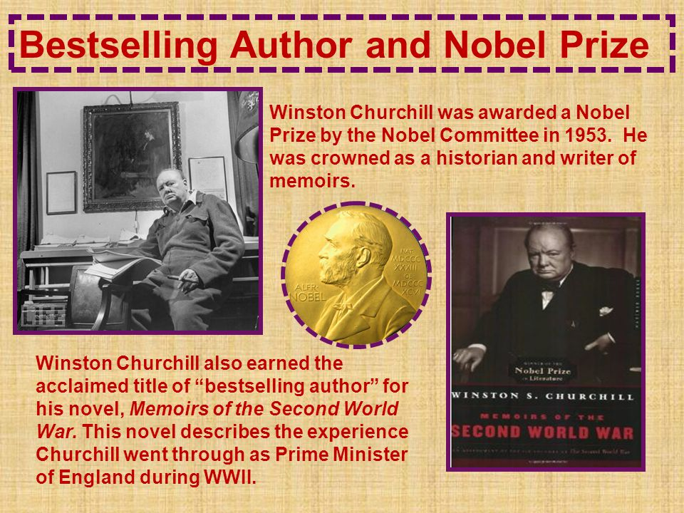 Bestselling Author and Nobel Prize