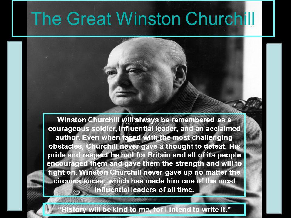 The Great Winston Churchill