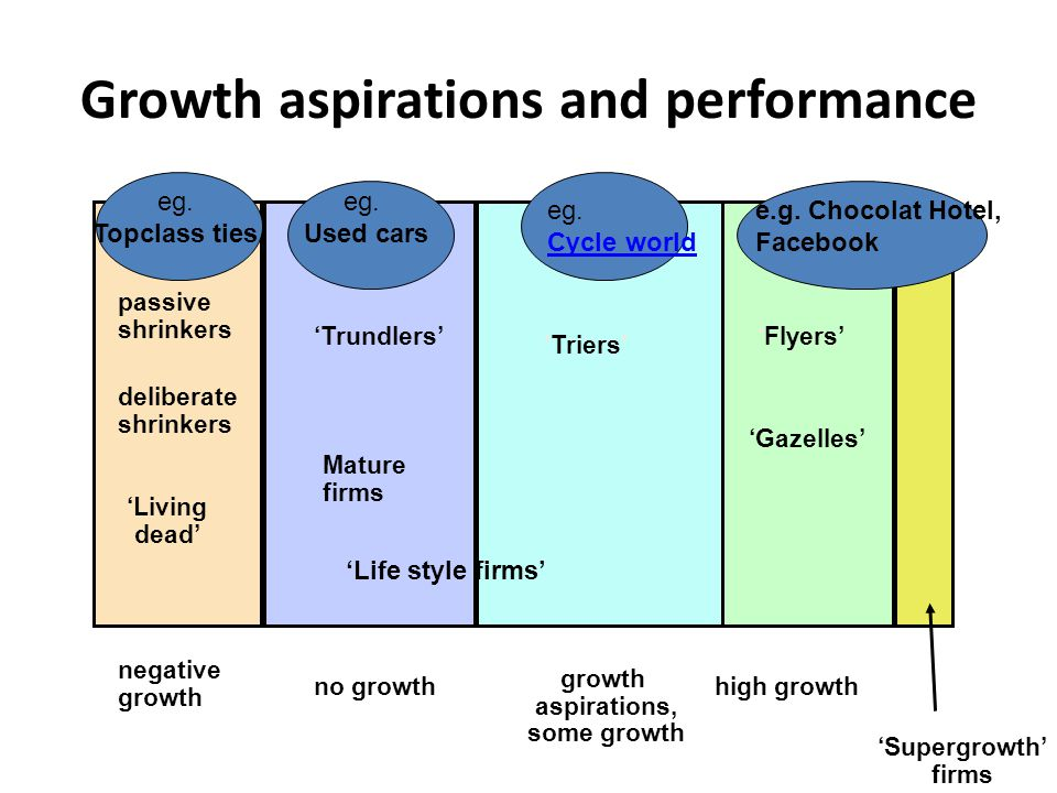 Growth aspirations and performance