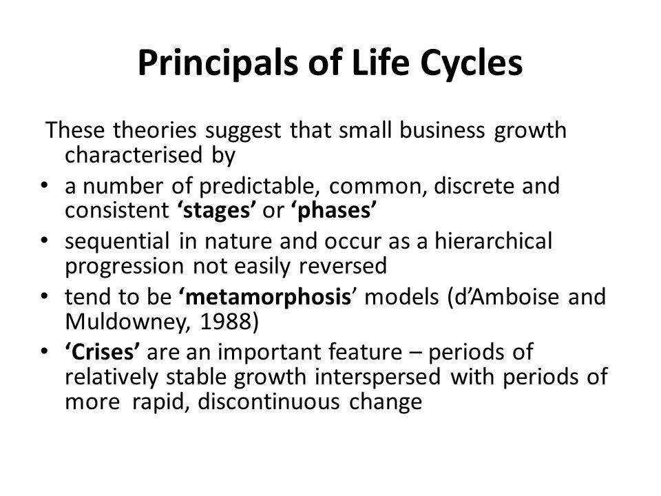 Principals of Life Cycles