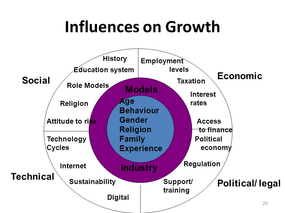 Influences on Growth Economic Social Models Industry Technical