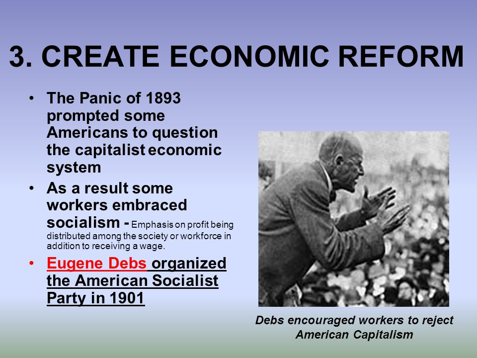 3. CREATE ECONOMIC REFORM