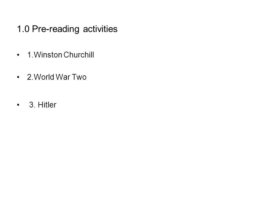 1.0 Pre-reading activities