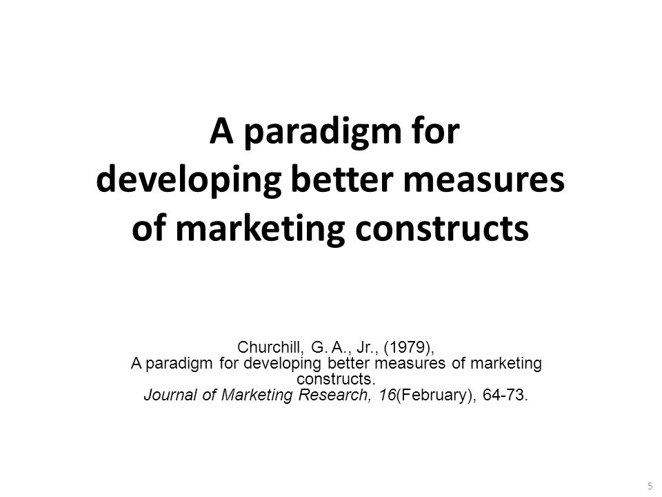 A paradigm for developing better measures of marketing constructs