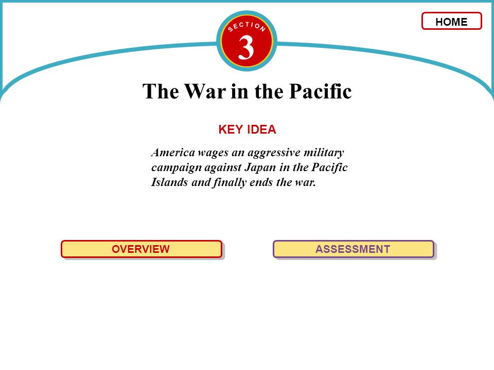 3 The War in the Pacific KEY IDEA