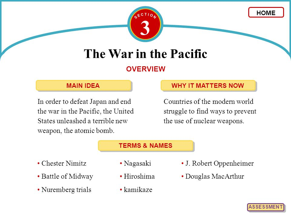 3 The War in the Pacific OVERVIEW