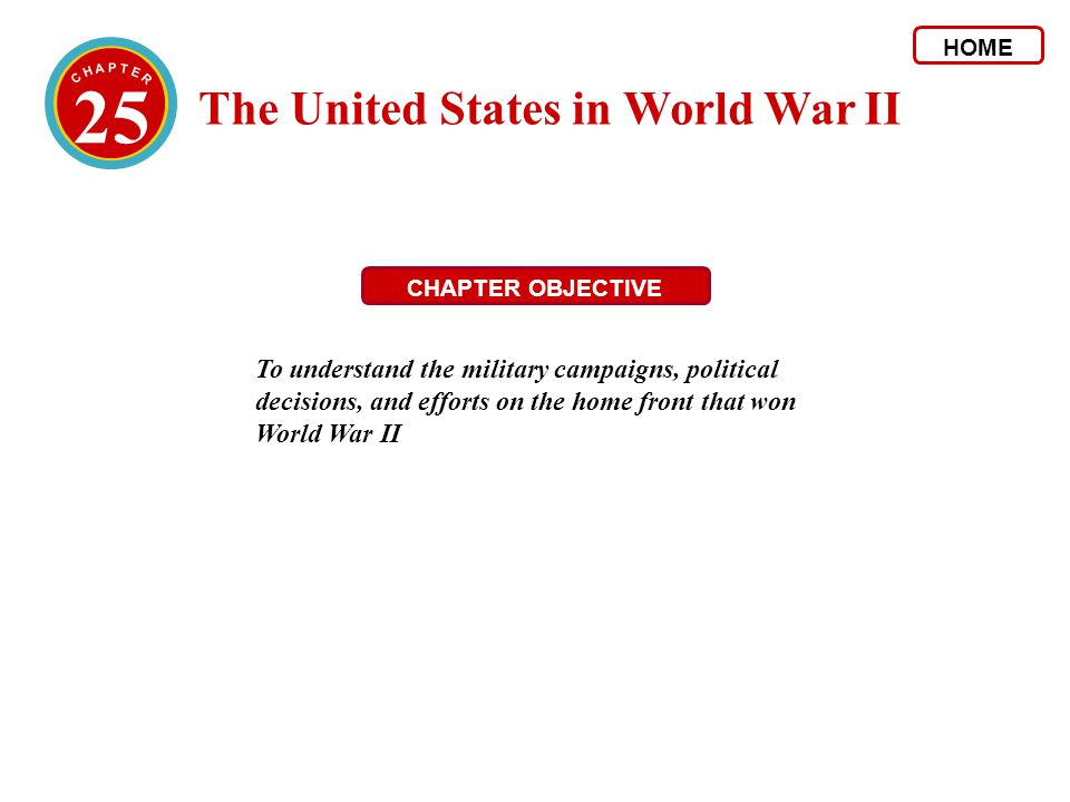 25 The United States in World War II
