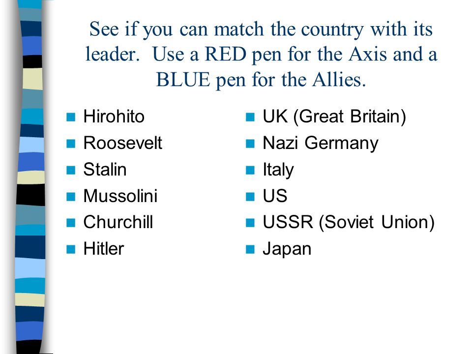 See if you can match the country with its leader
