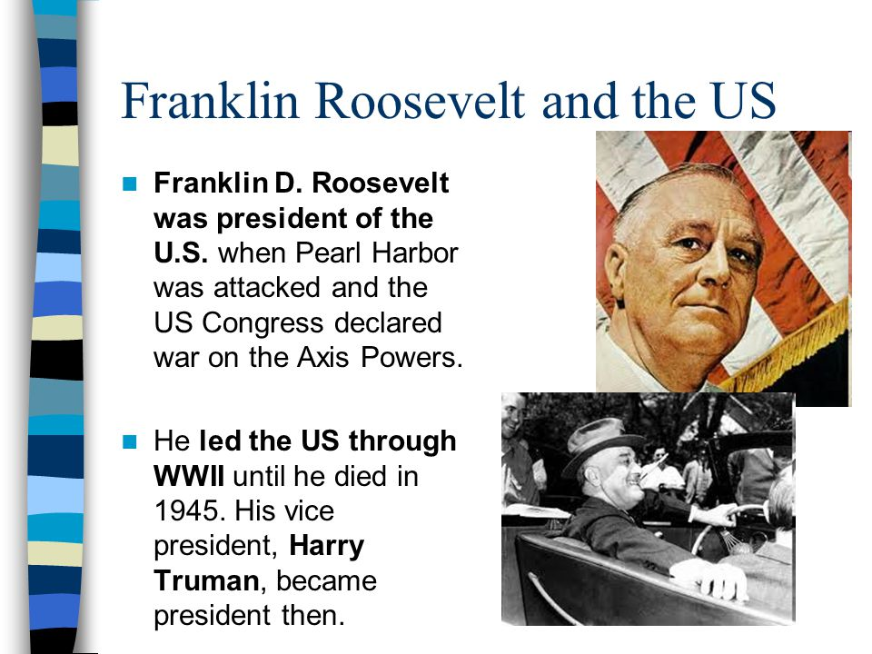 Franklin Roosevelt and the US
