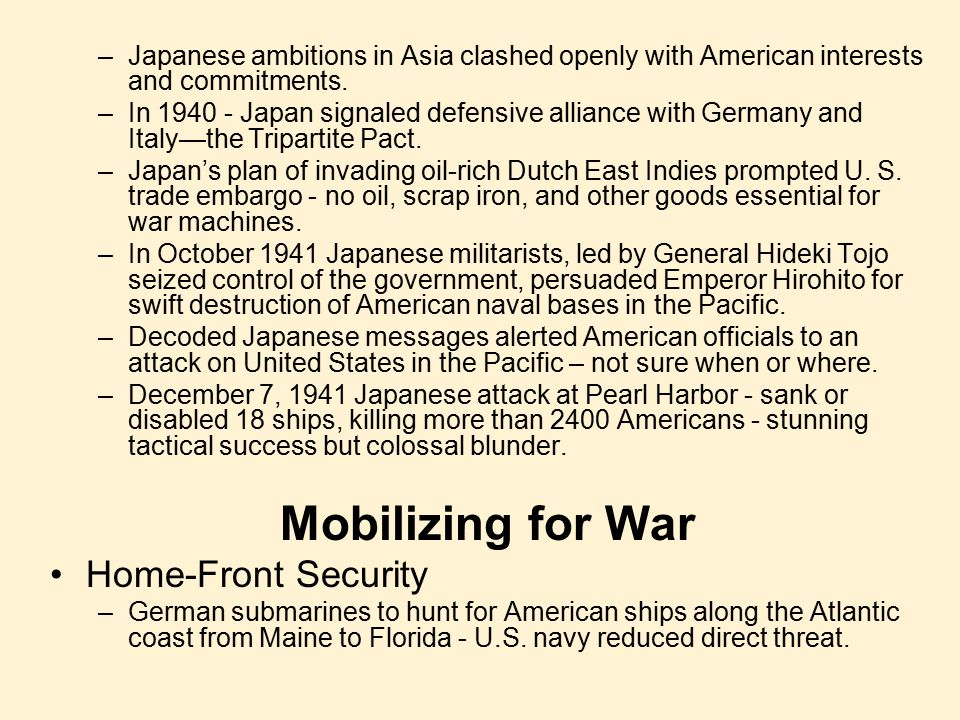 Mobilizing for War Home-Front Security