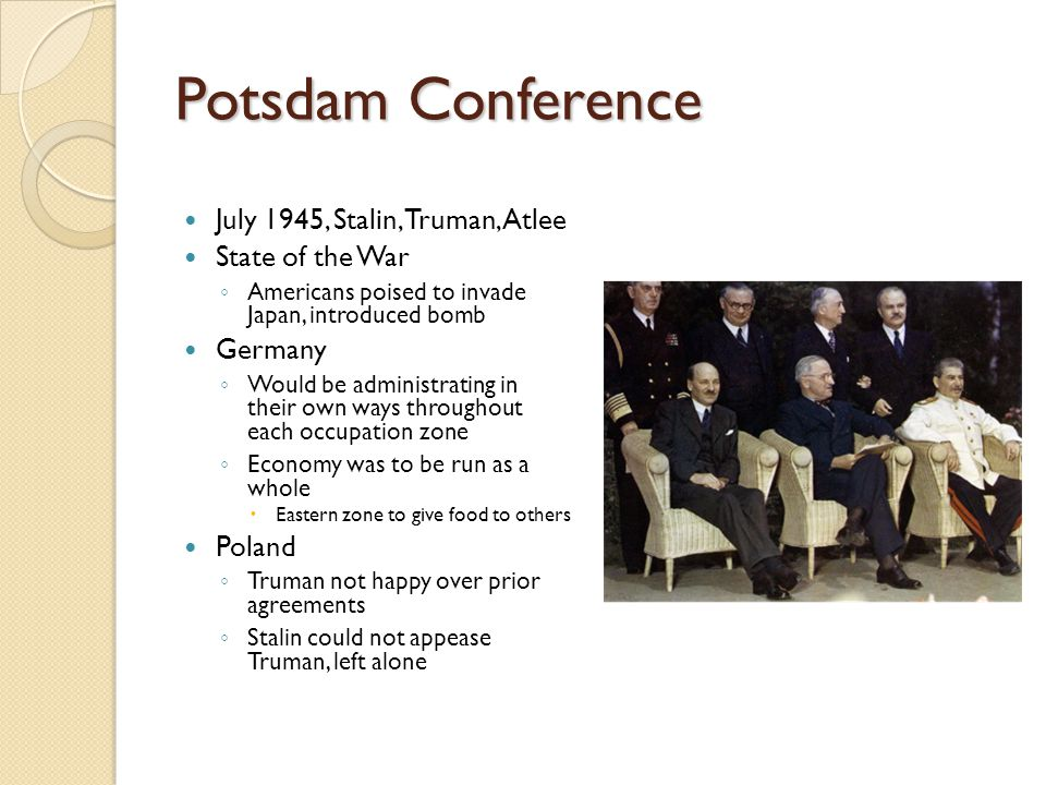 Potsdam Conference July 1945, Stalin, Truman, Atlee State of the War