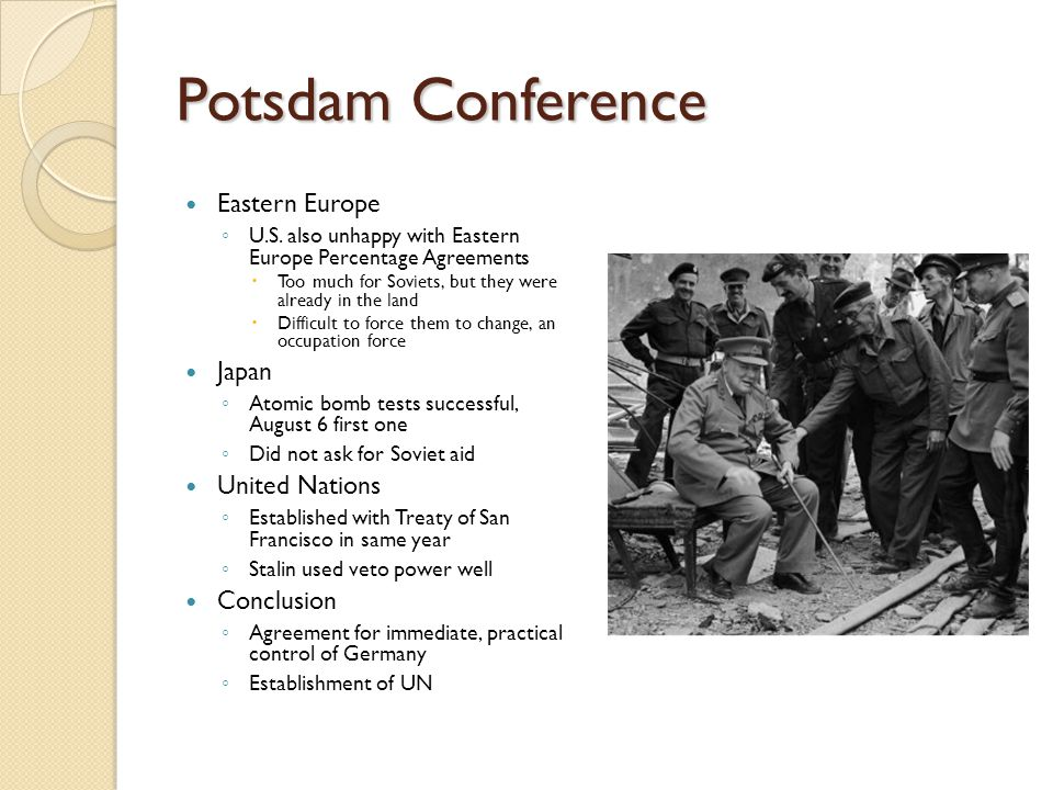 Potsdam Conference Eastern Europe Japan United Nations Conclusion