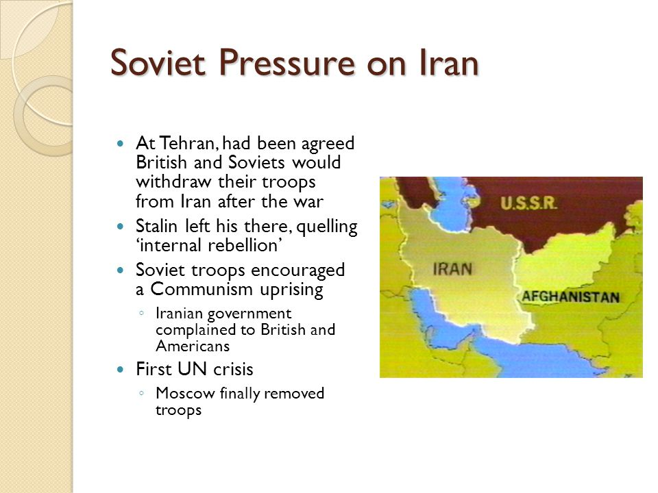 Soviet Pressure on Iran