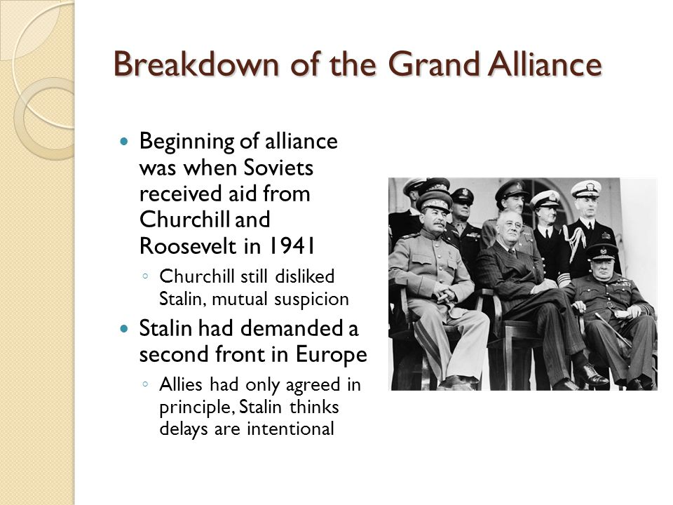Breakdown of the Grand Alliance