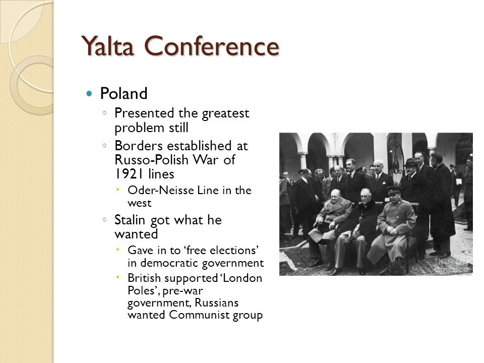Yalta Conference Poland Presented the greatest problem still