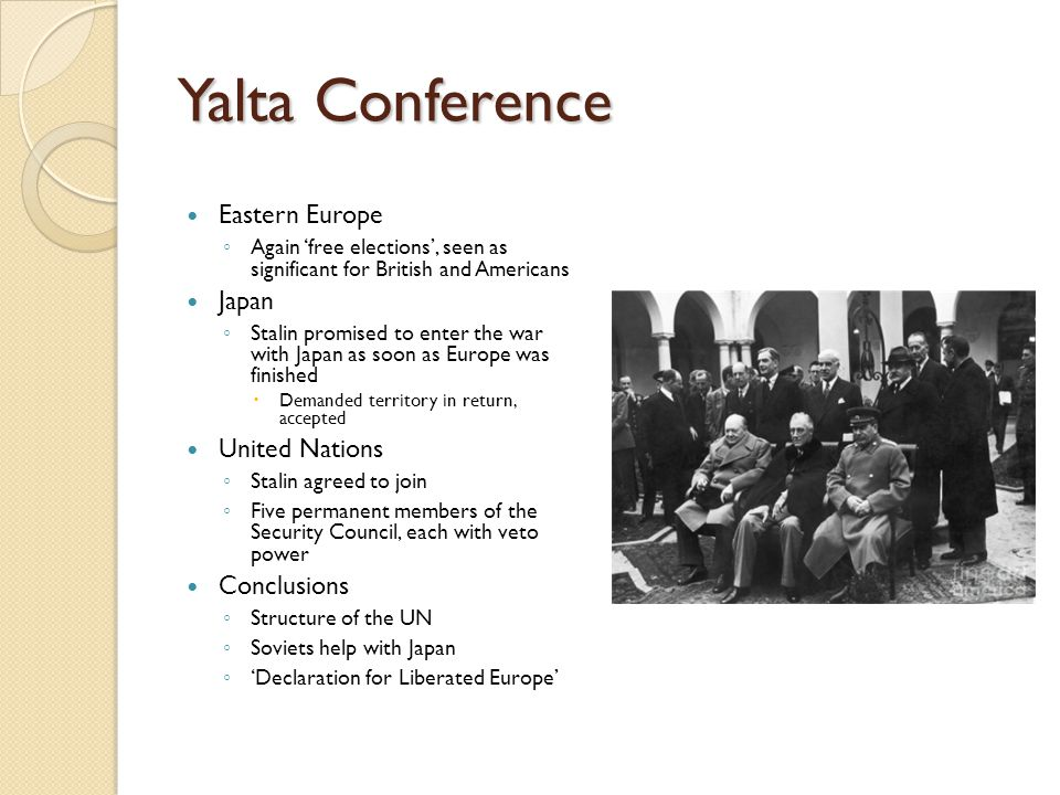 Yalta Conference Eastern Europe Japan United Nations Conclusions