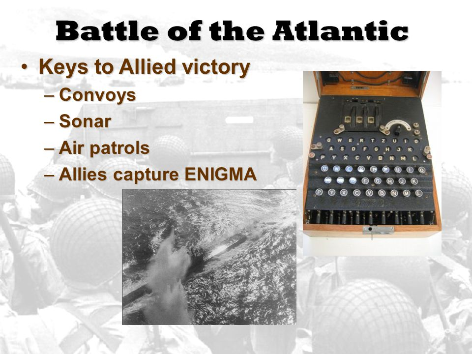 Battle of the Atlantic Keys to Allied victory Convoys Sonar