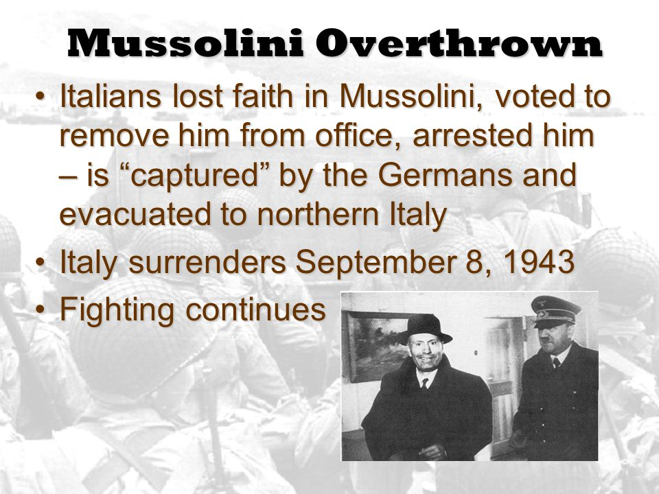 Mussolini Overthrown