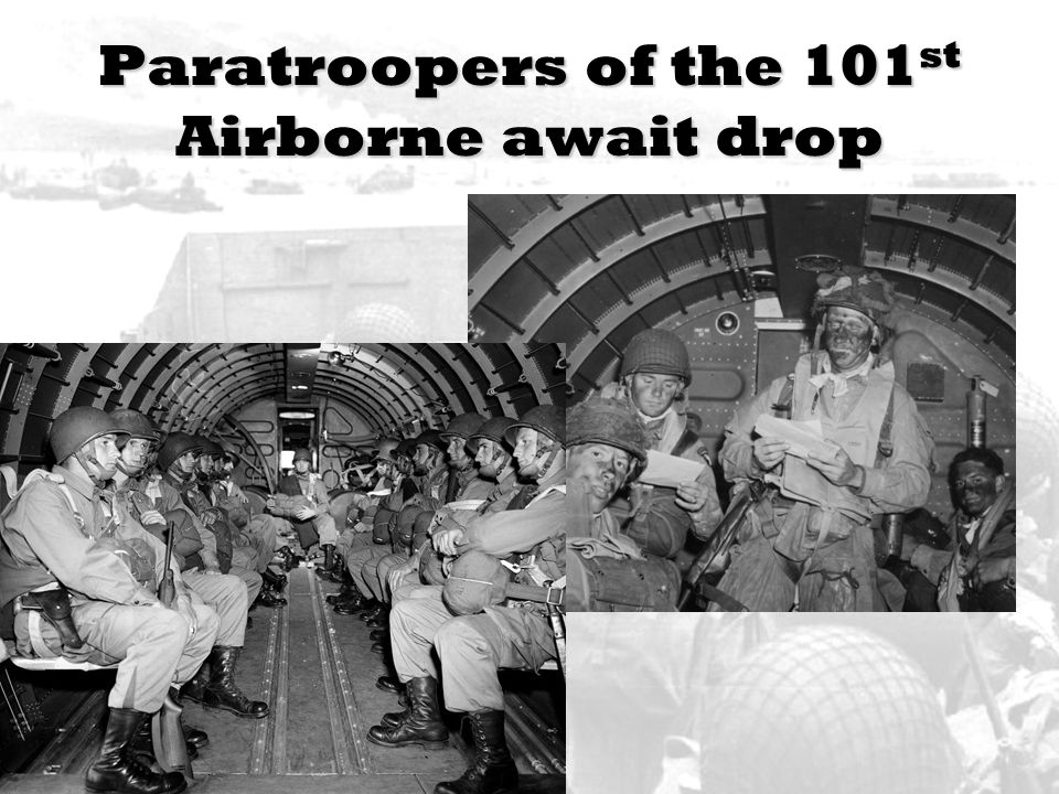 Paratroopers of the 101st Airborne await drop