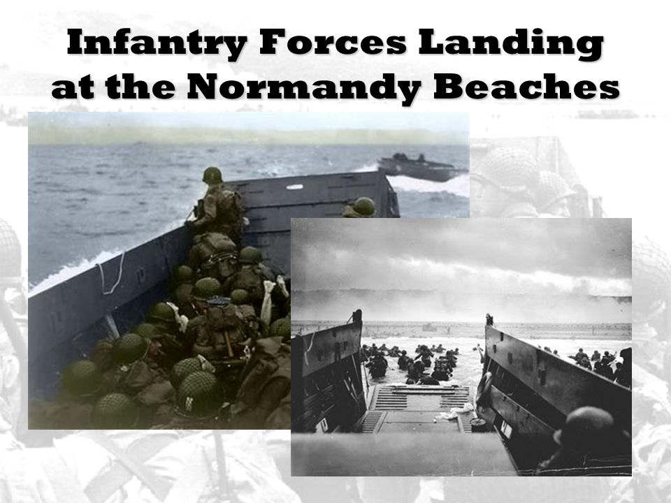 Infantry Forces Landing at the Normandy Beaches