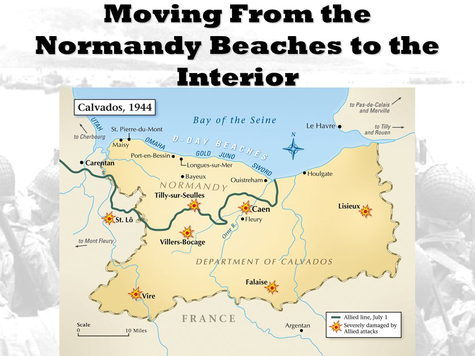 Moving From the Normandy Beaches to the Interior