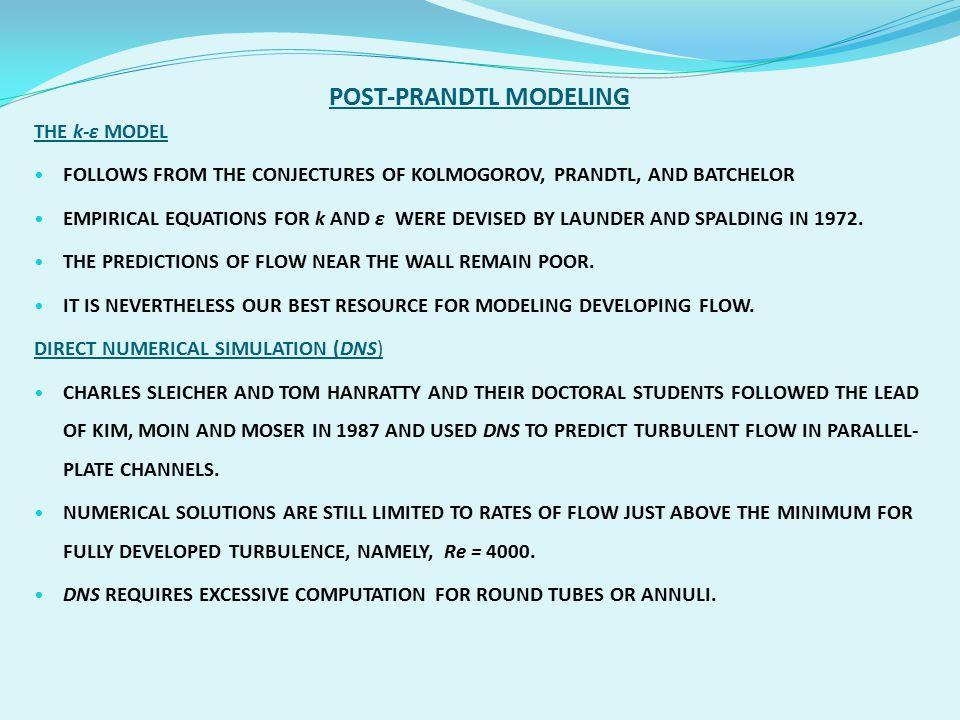 POST-PRANDTL MODELING