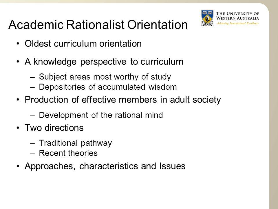 Academic Rationalist Orientation