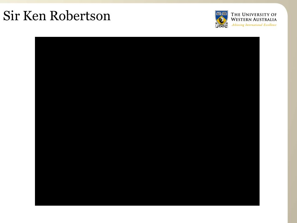 Sir Ken Robertson One the w/b write the five questions as headings: