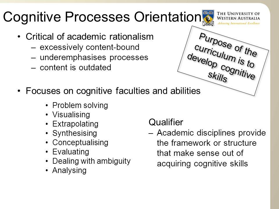 Cognitive Processes Orientation