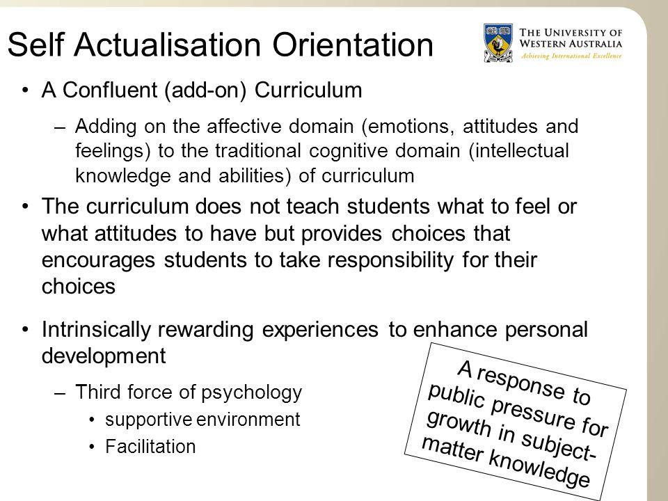 Self Actualisation Orientation