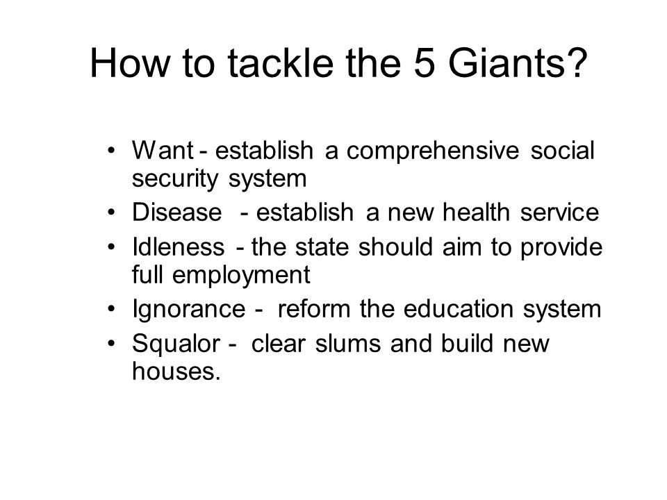How to tackle the 5 Giants