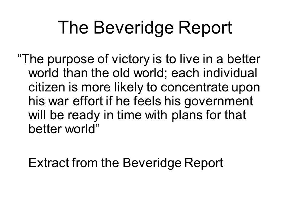 The Beveridge Report