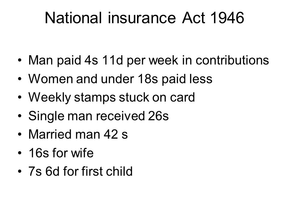 National insurance Act 1946