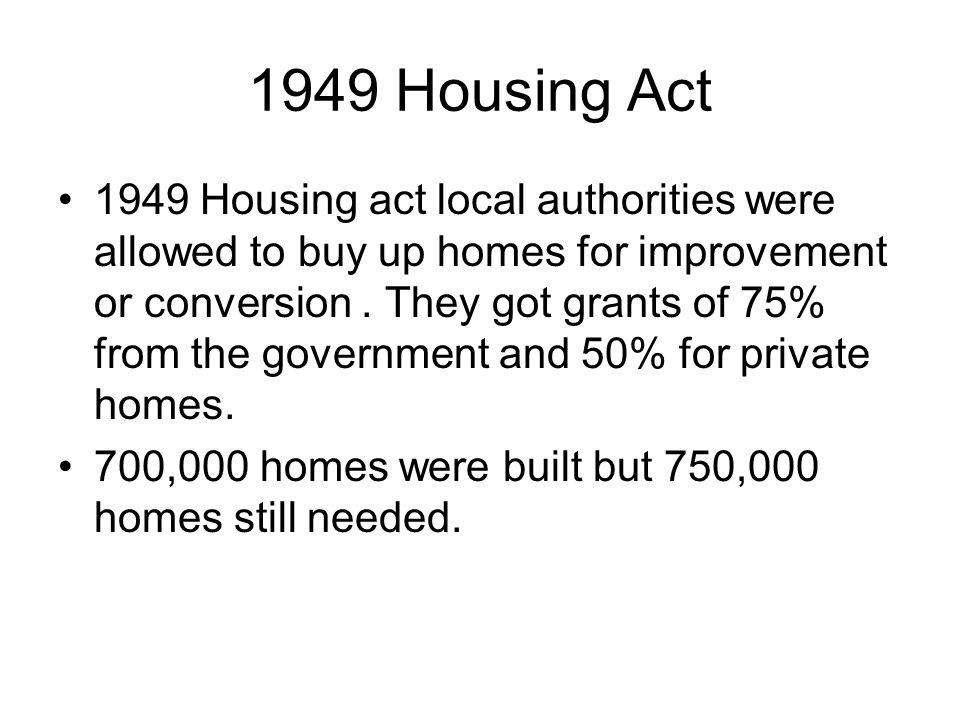 1949 Housing Act