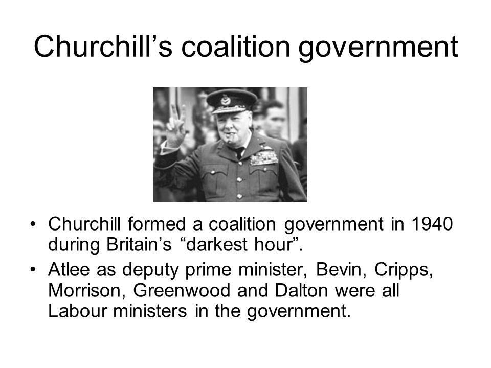 Churchill's coalition government