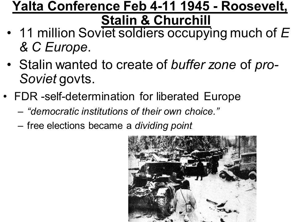 Yalta Conference Feb 4-11 1945 - Roosevelt, Stalin & Churchill