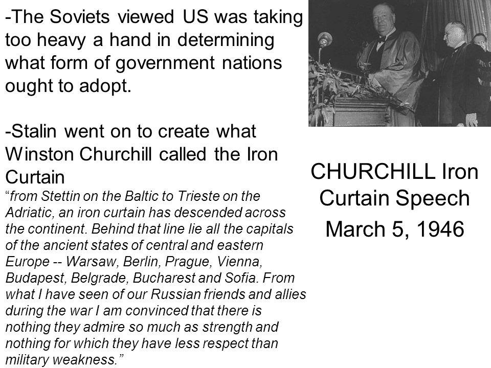 CHURCHILL Iron Curtain Speech March 5, 1946
