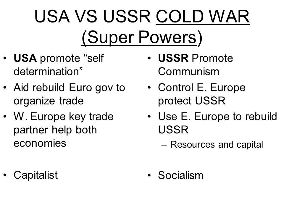 USA VS USSR COLD WAR (Super Powers)
