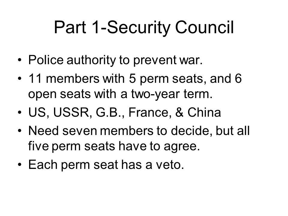 Part 1-Security Council