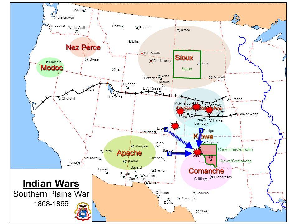 Indian Wars Southern Plains War Nez Perce Sioux Modoc Kiowa Apache