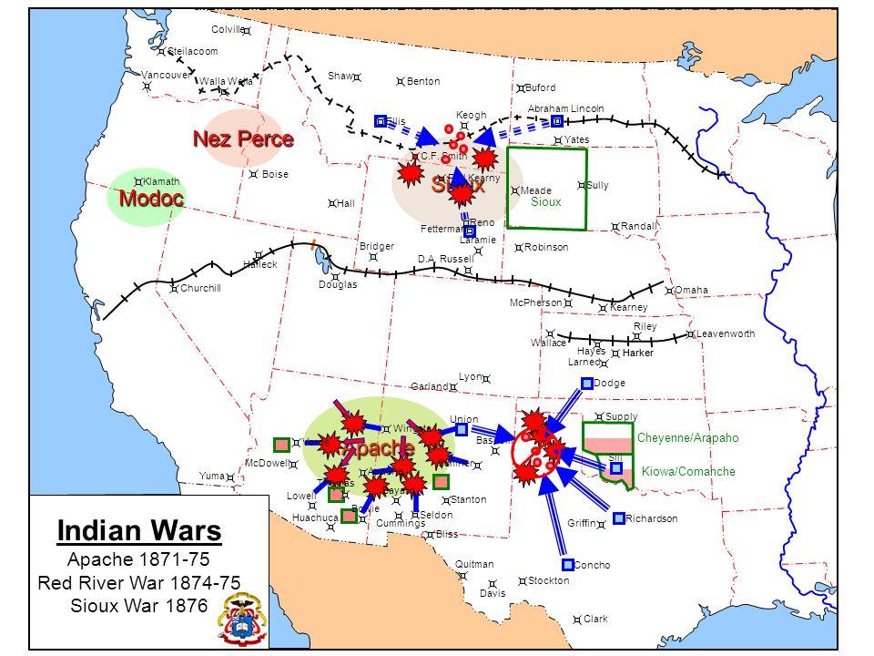 Indian Wars Nez Perce Sioux Modoc Apache Apache 1871-75
